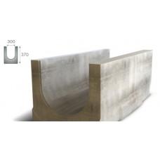 Лоток водоотводный бетонный ЛВБ Norma 300 №1 с уклоном 0,5% AQUASTOK