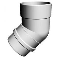 Колено 45° LUX (пломбир) Docke